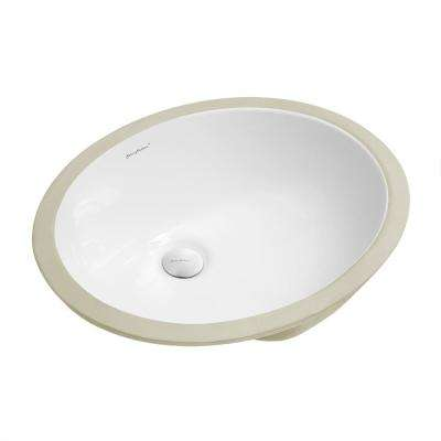 Plaisir 18 in. Oval Under-Mount Bathroom Sink in White