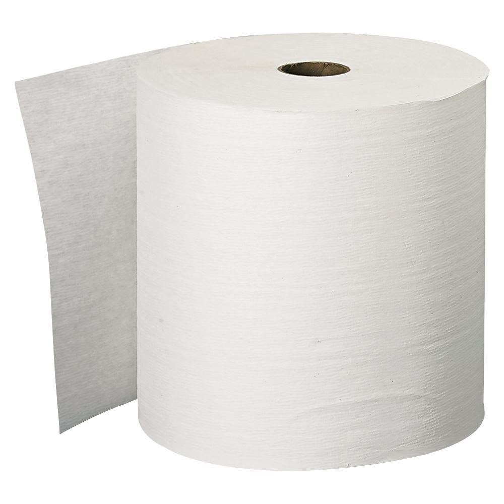 Kleenex White Hard Roll Towel, 1-Ply (6-Pack)