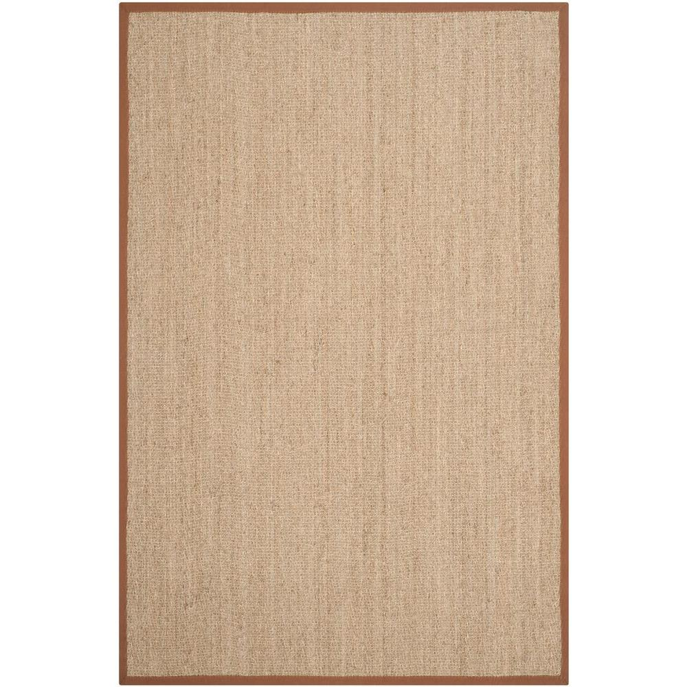 Safavieh Natural Fiber Beige Brown 6 Ft X 9 Ft Area Rug