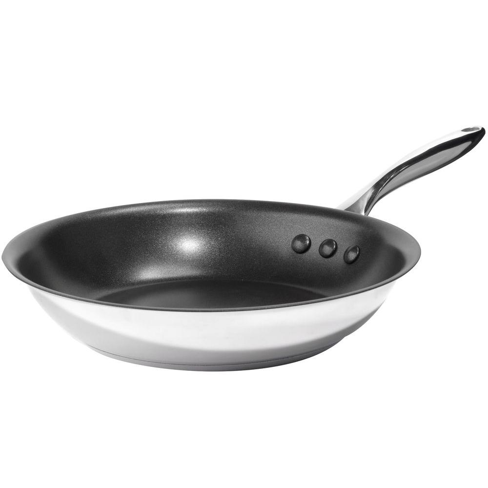 Ozeri 10 in. Stainless Steel Earth Pan with Eterna, a 100% PFOA and ...