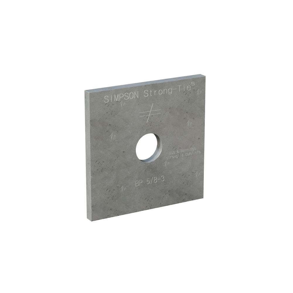 Simpson Strong-Tie BP 3 in. x 3 in. Hot-Dip Galvanized Bearing Plate with 5/8 in. Bolt Dia.