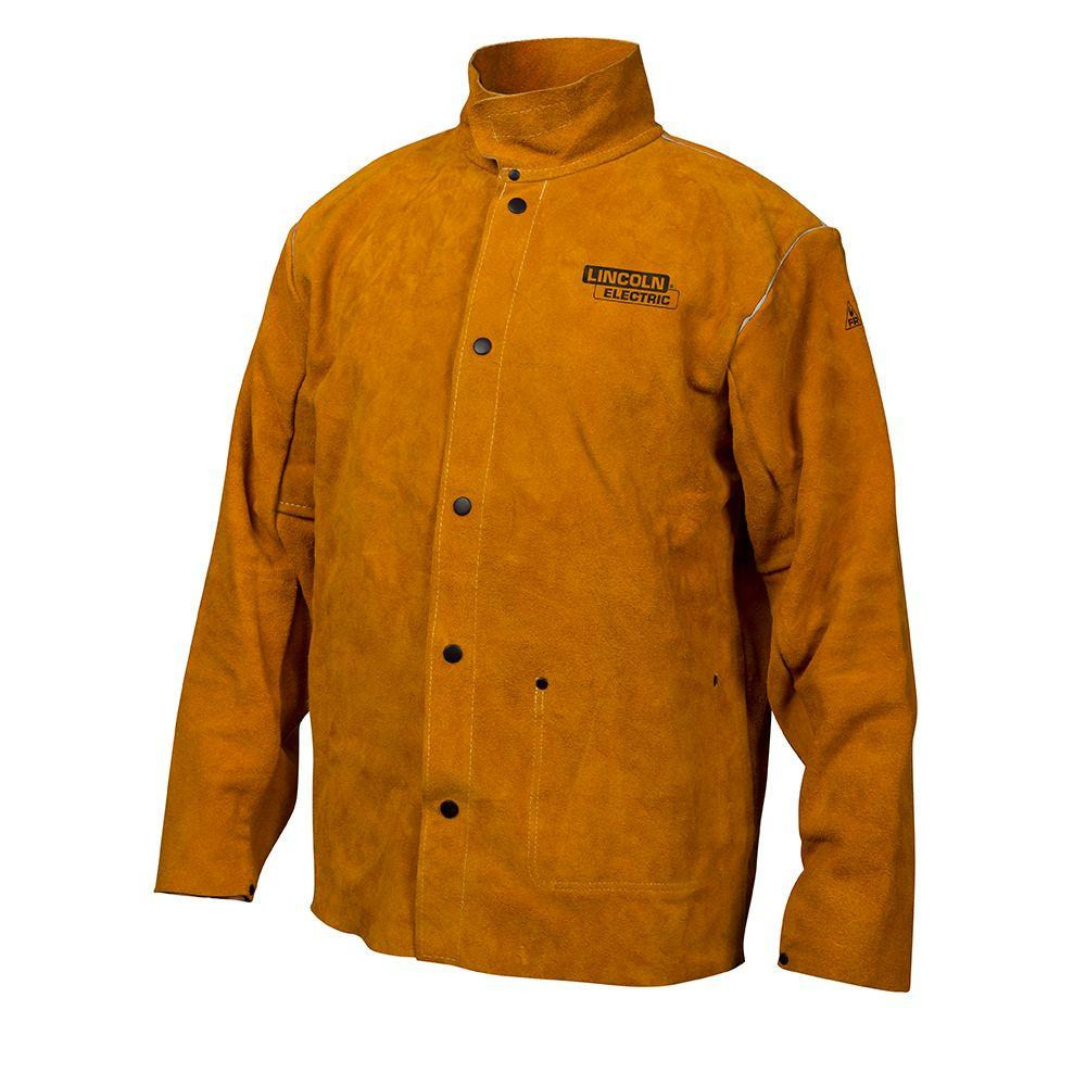 5f685a068d44 Lincoln Electric Heavy Duty XX-Large Leather Welding Jacket-KH807XXL ...