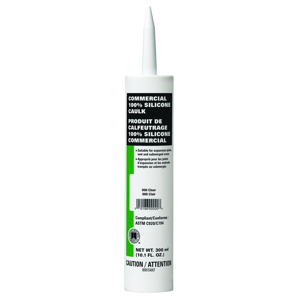 Custom Building Products Commercial #000 Clear 10.1 oz. Silicone Caulk