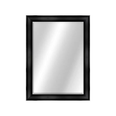 Two Toned 22 x 28 Value Core Black Framed Vanity Mirror
