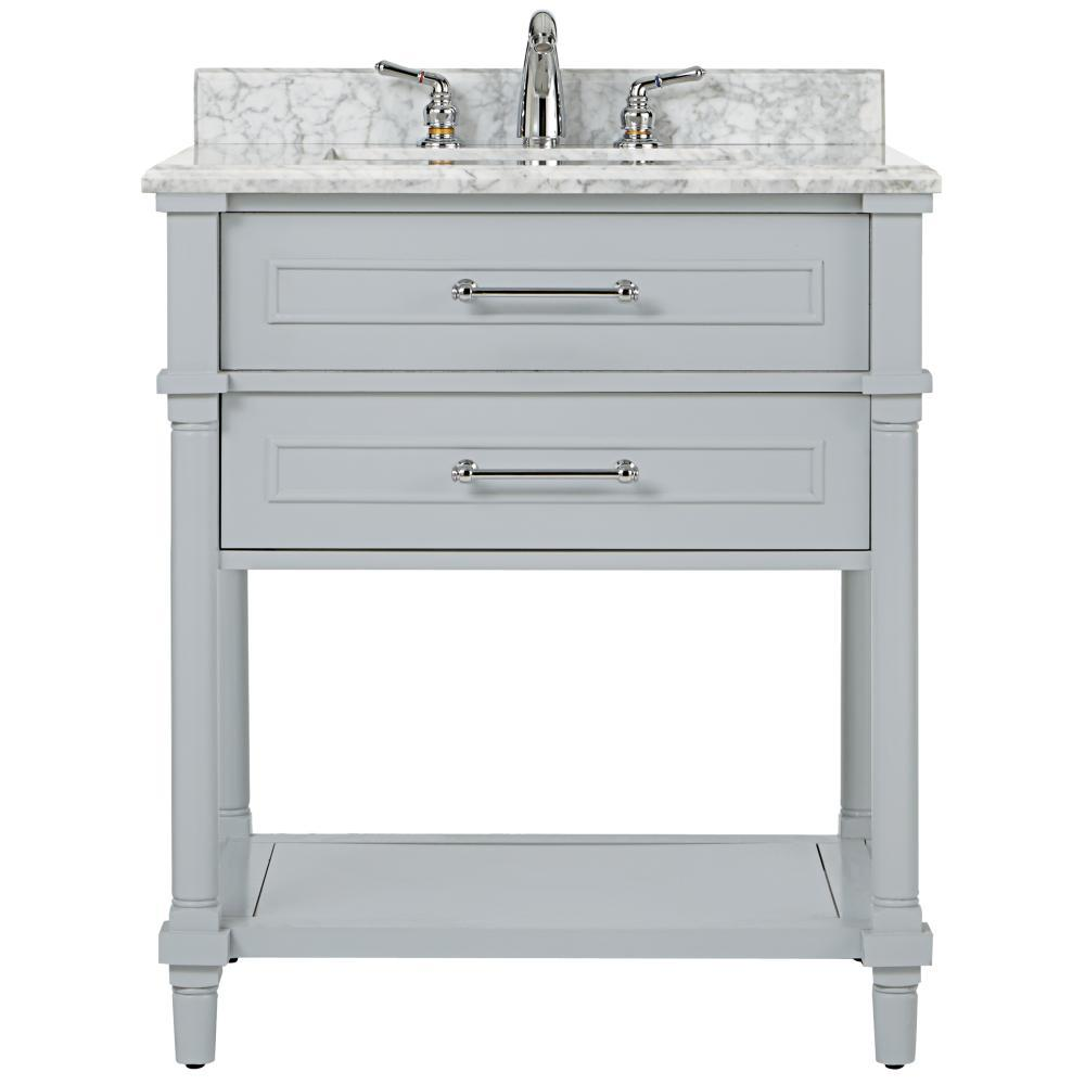 Home Decorators Collection Aberdeen 30 in. W Open Shelf Vanity in ...