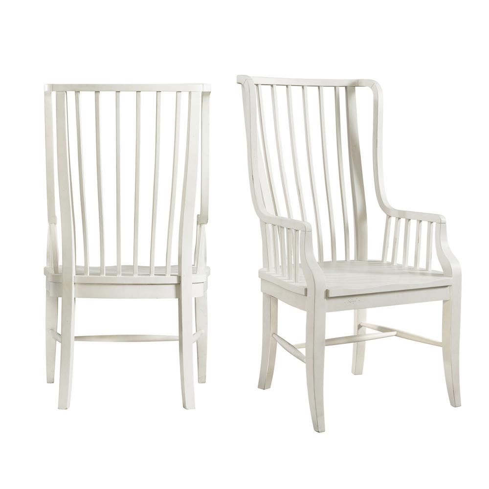 Picket House Furnishings Cayman Brown/White Windsor Dining Chair (Set of 2) - Picket House Furnishings Cayman Brown/White Windsor Dining Chair