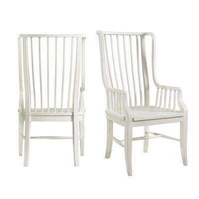 Cayman Brown/White Windsor Dining Chair (Set of 2)