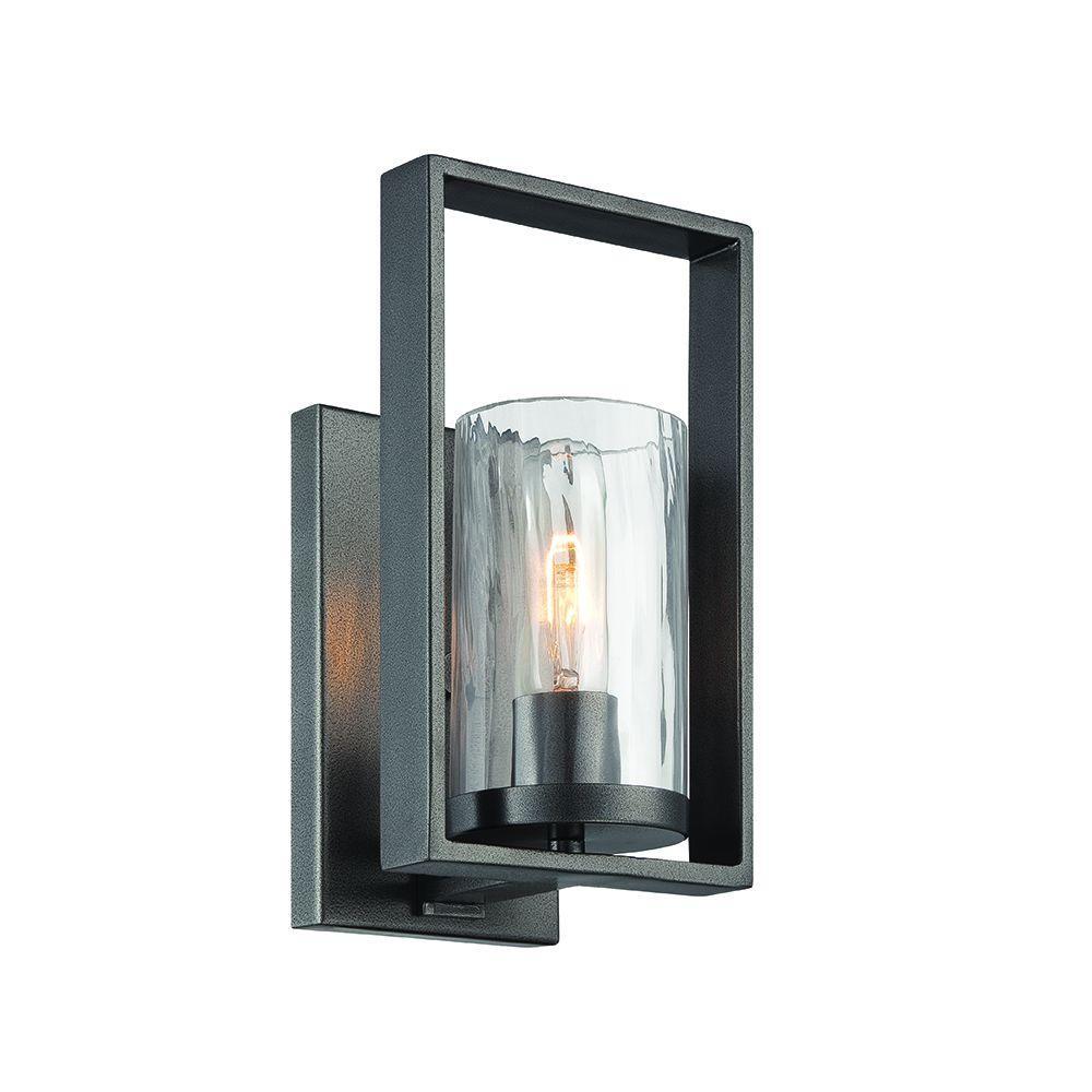 Elements 1-Light Charcoal Interior Incandescent Bath Vanity Light