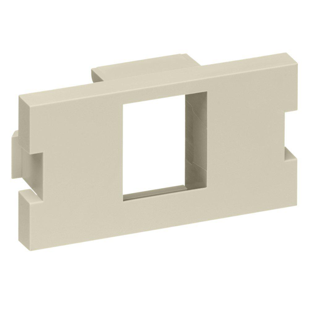 1-Port 1-Unit High Multimedia Outlet System (MOS) QuickPort Adapter, Ivory