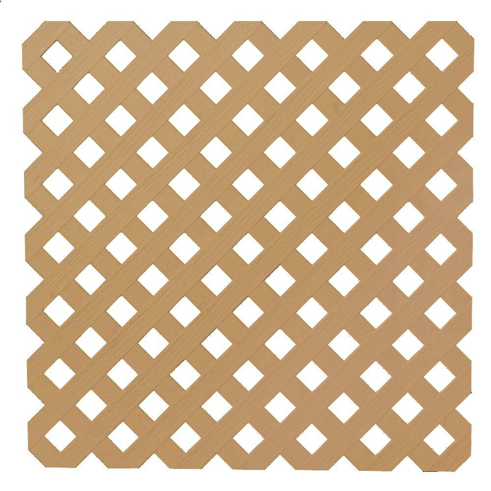 0.2 in. x 48 in. x 8 ft. Cedar Privacy Plastic
