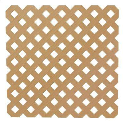 0.2 in. x 48 in. x 8 ft. Cedar Privacy Plastic Lattice