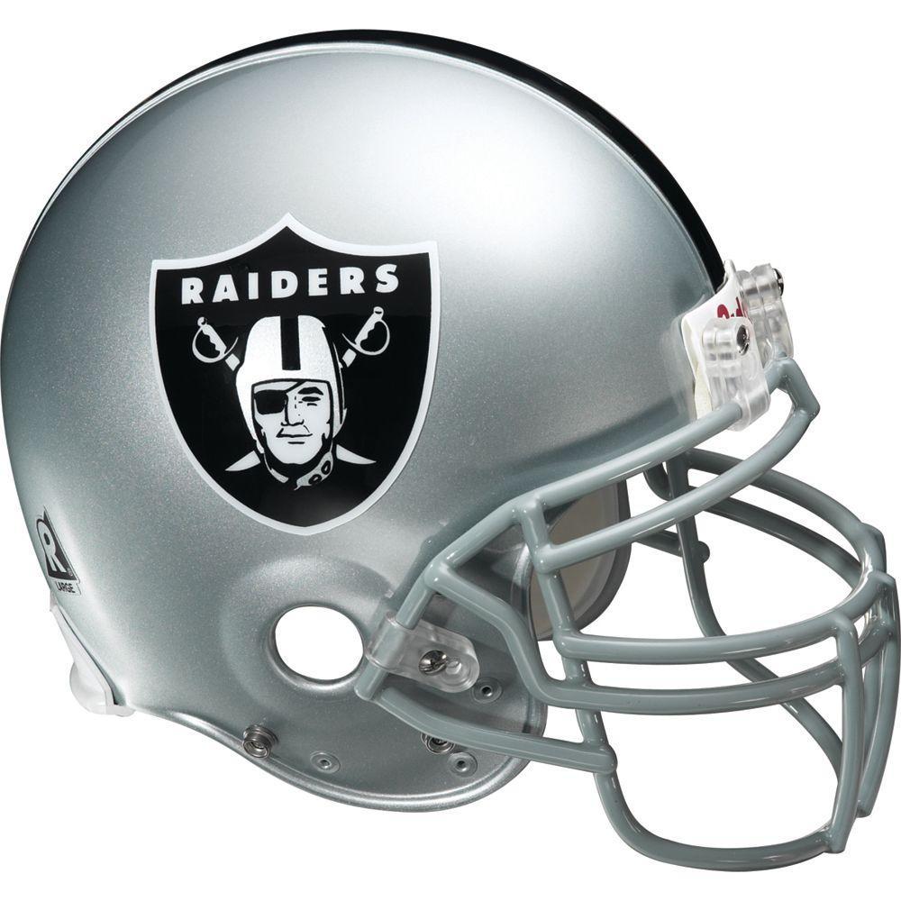 Fathead 57 in. x 51 in. Oakland Raiders Helmet Wall Decal