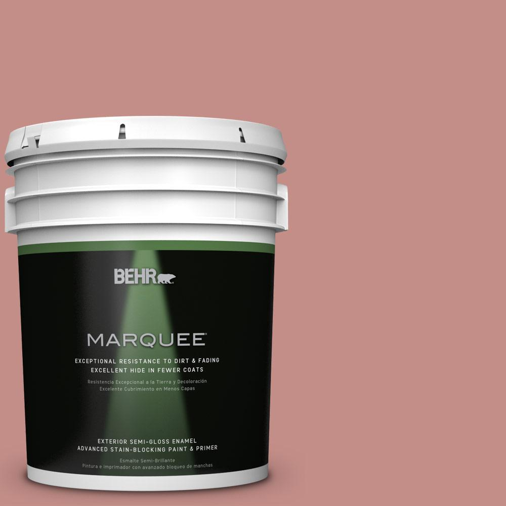 BEHR MARQUEE 5-gal. #BIC-32 Grand Sunset Semi-Gloss Enamel Exterior Paint
