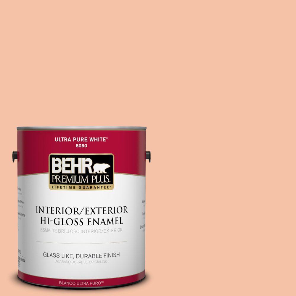 1-gal. #240C-3 Peach Damask Hi-Gloss Enamel Interior/Exterior Paint