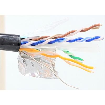 250 ft. Solid Cat6 STP Outdoor Bulk Ethernet 23 AWG 8-Conductors Cable in Black