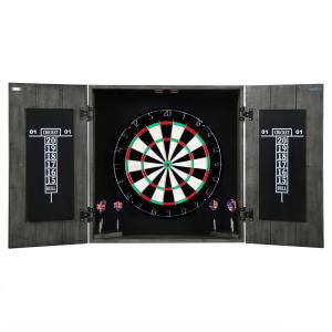 Hathaway Drifter Solid Wood Dartboard and Cabinet Set by