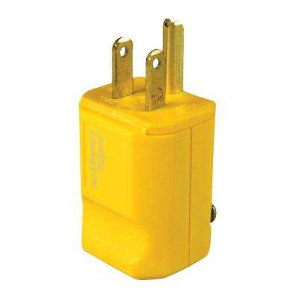 Pass & Seymour MaxGrip M3 15 Amp 125-Volt NEMA 5-15P Straight Blade Plug, Yellow