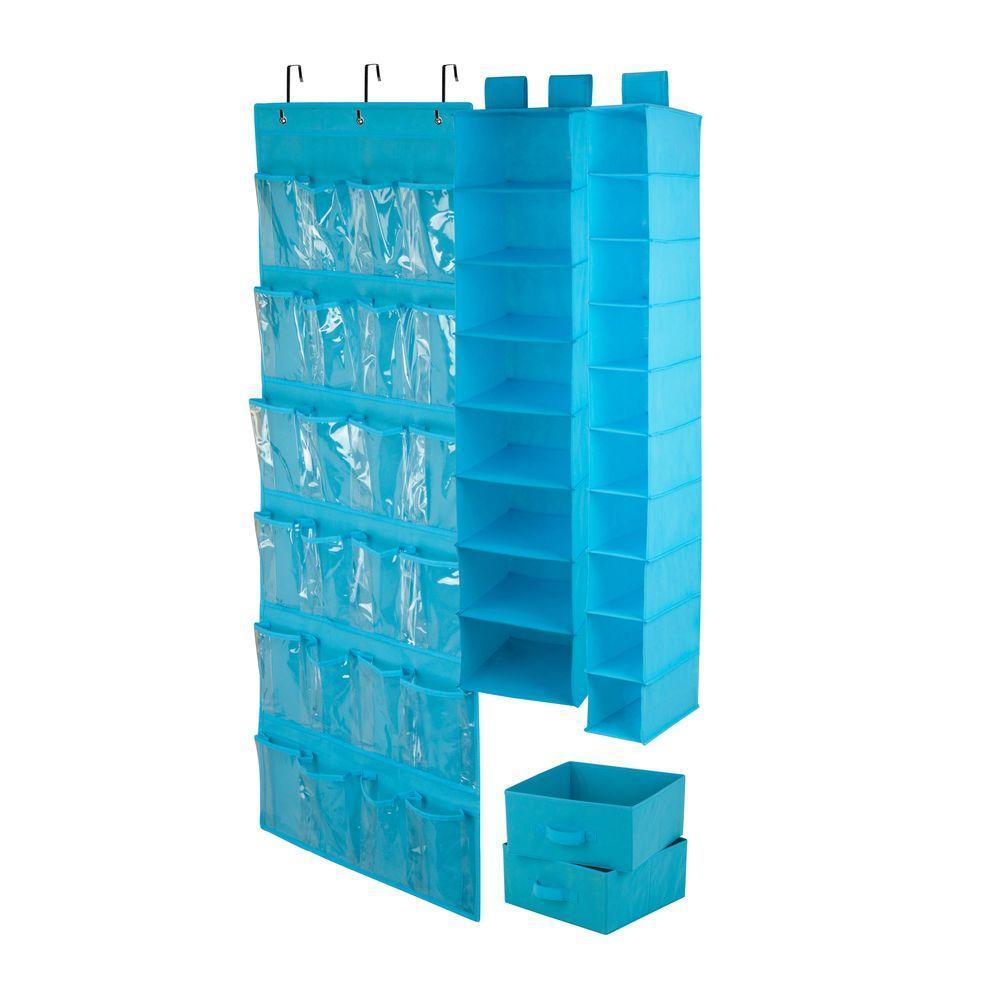 4-Piece Ocean Blue Closet Organization Set