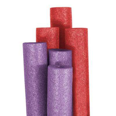 Big Boss Purple and Red Round Pool Noodles (6-Pack)