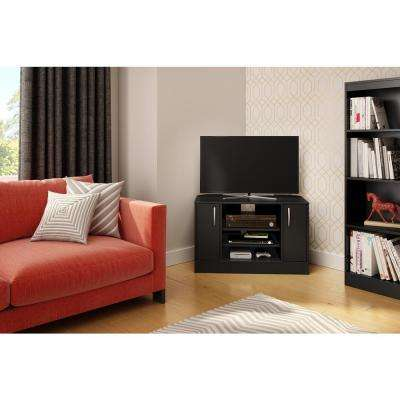 Axess Pure Black Storage Entertainment Center