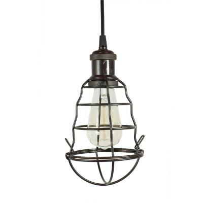 Burmane 1-Light Black Pendant