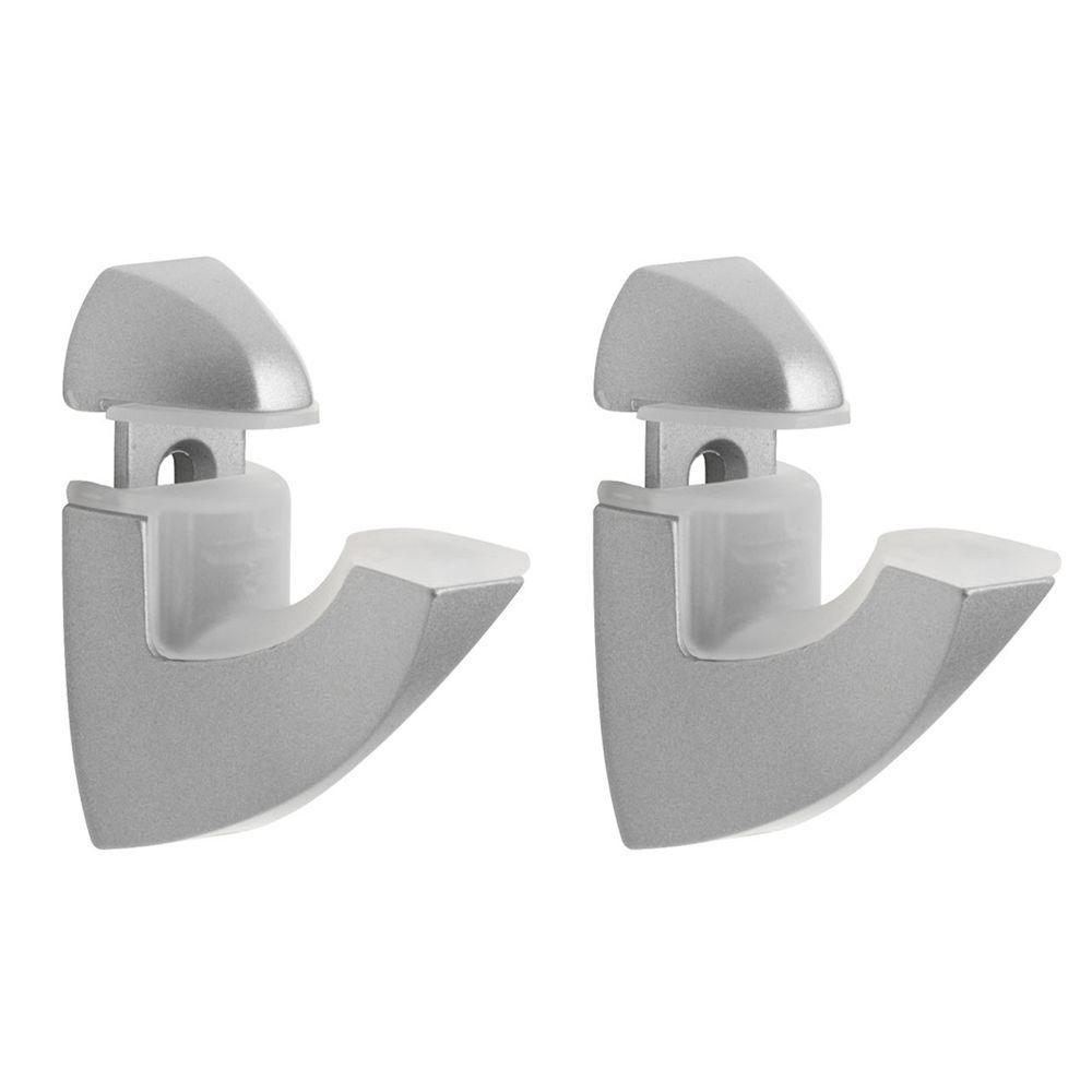 Scoop 1/4 in. - 1 in. Adjustable Shelf Support in Silver
