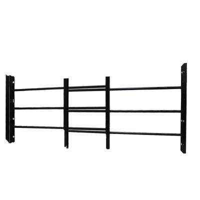 3-Bar Adjustable 23-1/4 in. to 42-1/2 in. Horizontal Hinged Black Window Security Guard