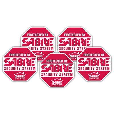 Security Decals (5-Pack)