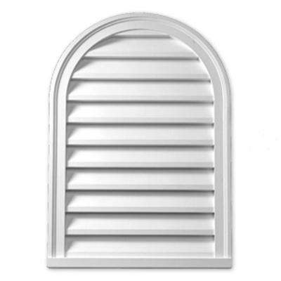 14 in. x 22 in. x 2 in. Polyurethane Decorative Cathedral Louver
