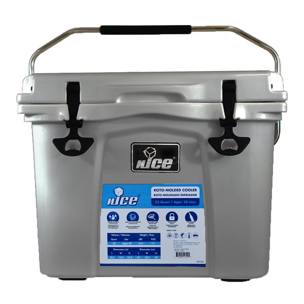 22 qt. Gray Cooler