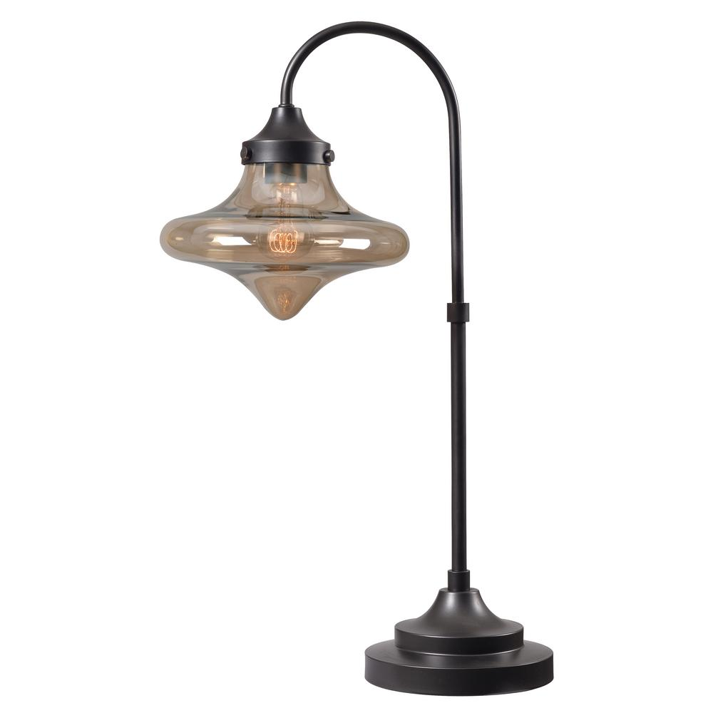 Kenroy Home Rain Drop 27 in. Bronze Table Lamp