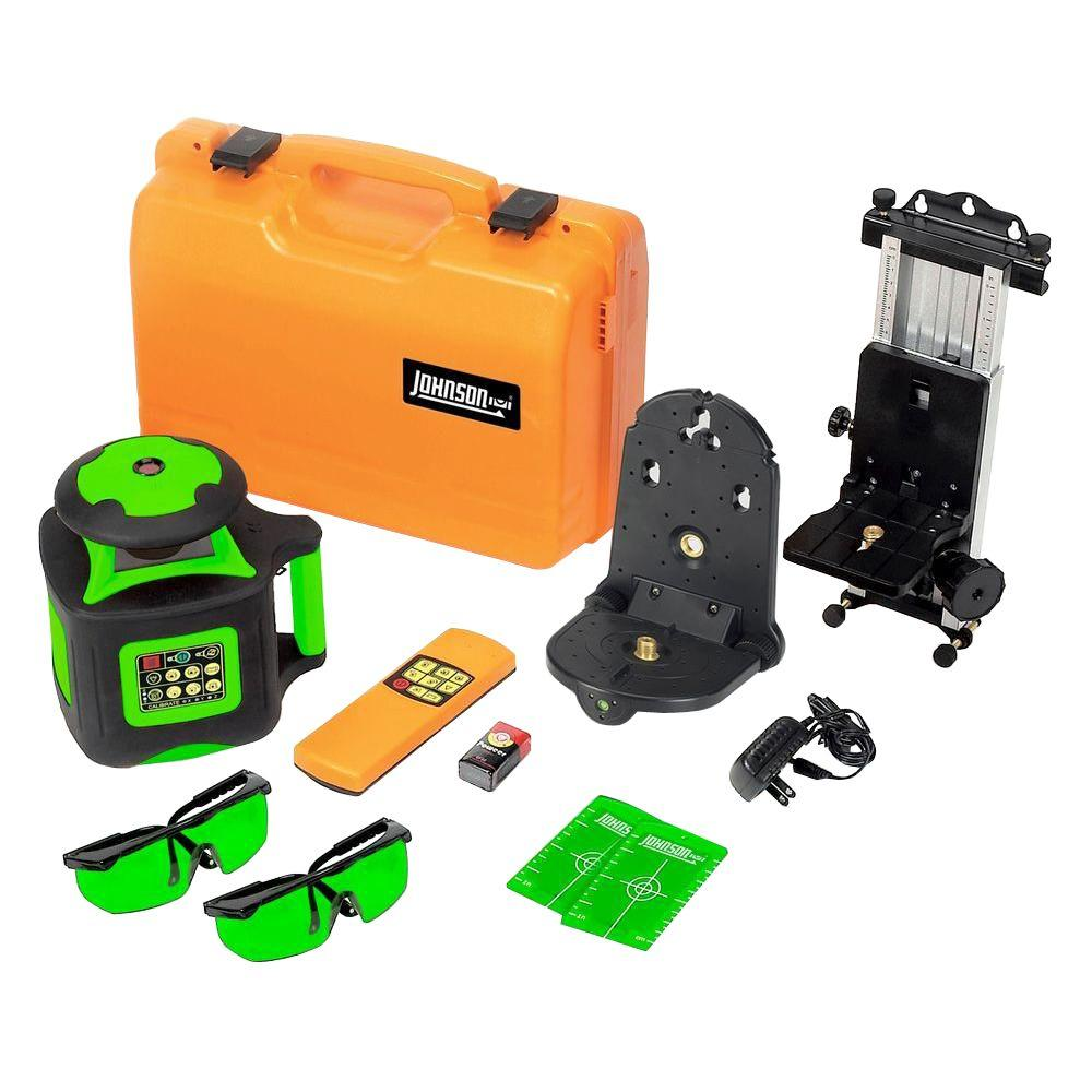 Johnson Electronic Self-Leveling Rotary Laser Level with GreenBrite Technology