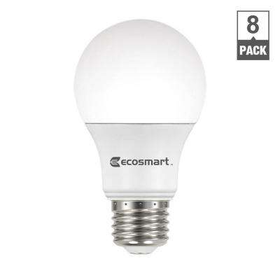 60-Watt Equivalent A19 Non-Dimmable CEC LED Light Bulb Daylight (8-Pack)
