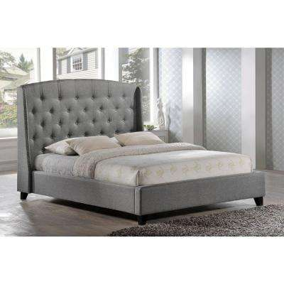 Laguna Gray King Upholstered Bed