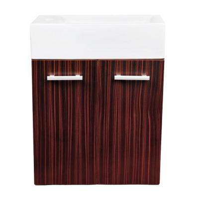 Isabella 19-3/4 in. W Vanity in Espresso with Vitreous China Vanity Top in White