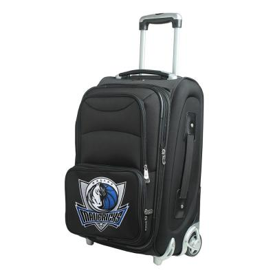 Denco NBA Dallas Mavericks 21 in. Black Carry-On Rolling Softside Suitcase