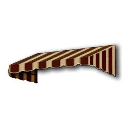 16 ft. San Francisco Window/Entry Awning Awning (18 in. H x 36 in. D) in Brown/Tan Stripe