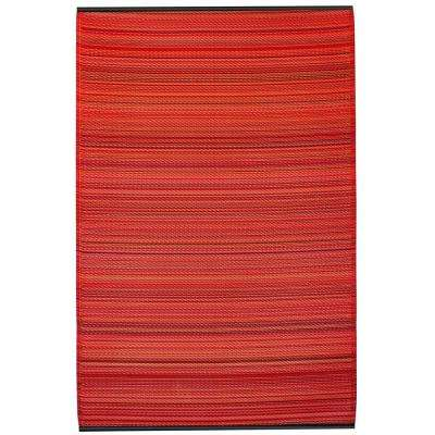 Cancun Indoor/Outdoor Sunset 8 ft. x 10 ft. Area Rug