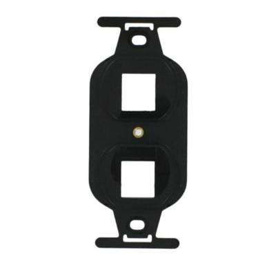 QuickPort Standard Size Type 106 2-Port Insert, Black
