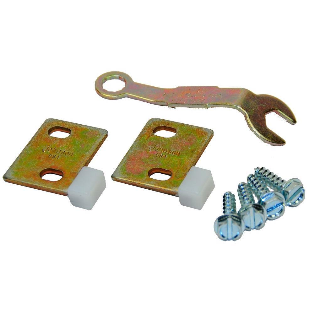 Johnson Hardware Multi-Door Pull Catch Set (2-Doors)  sc 1 st  Home Depot & Johnson Hardware Multi-Door Pull Catch Set (2-Doors)-2054PLBG - The ...