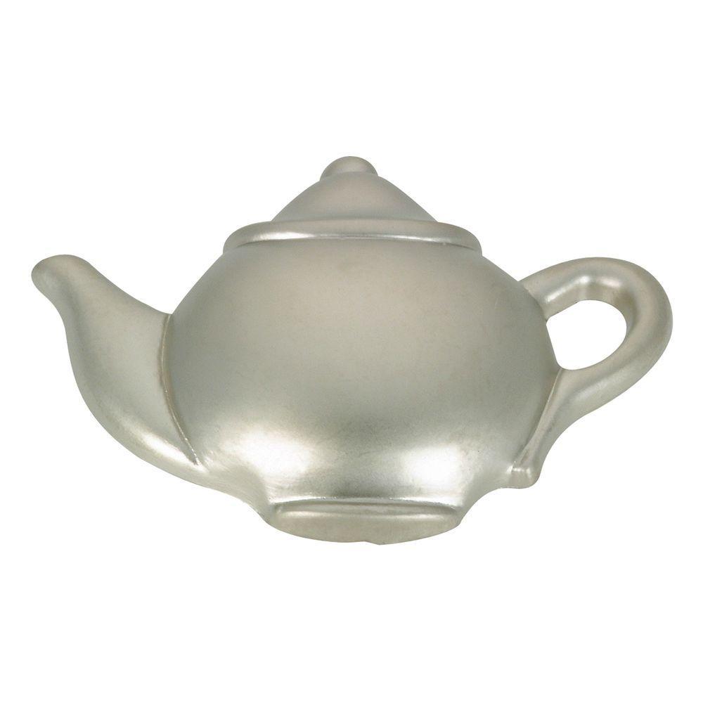 48 mm Matte Nickel Tea Pot Knob