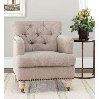 Colin Taupe Linen Arm Chair