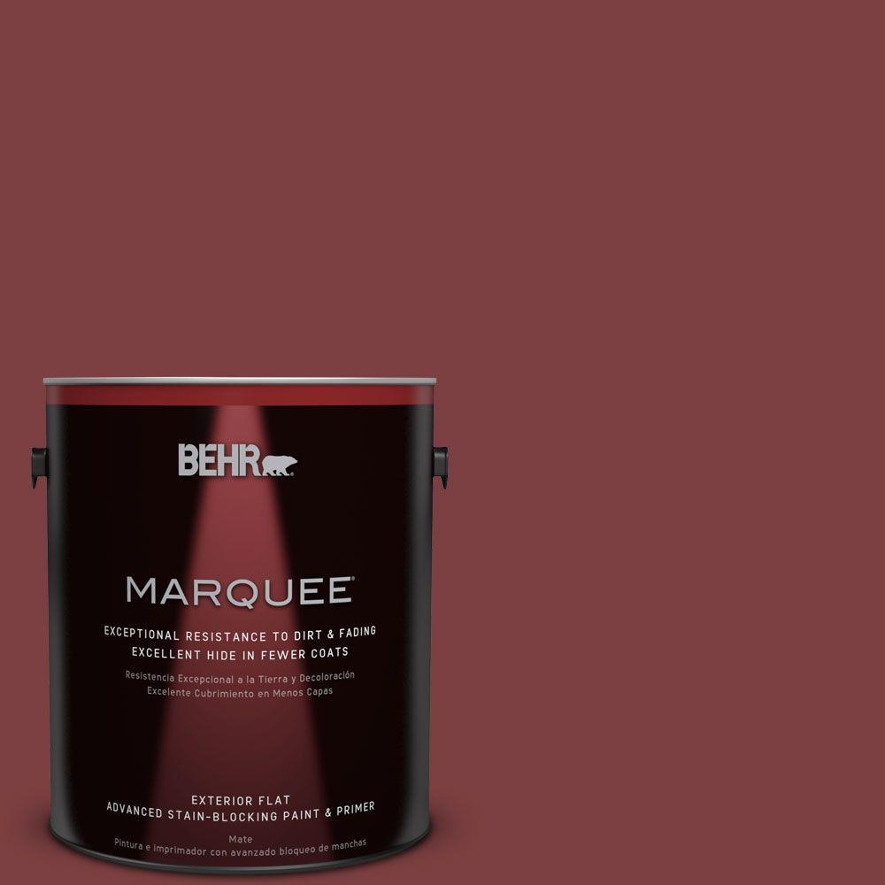 Home Decorators Collection 1-gal. #HDC-CL-11 January Garnet Flat Exterior Paint
