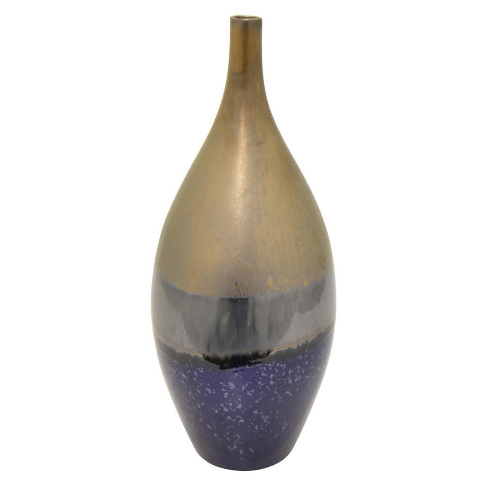 16.75 in. Blue Cearmic Vase