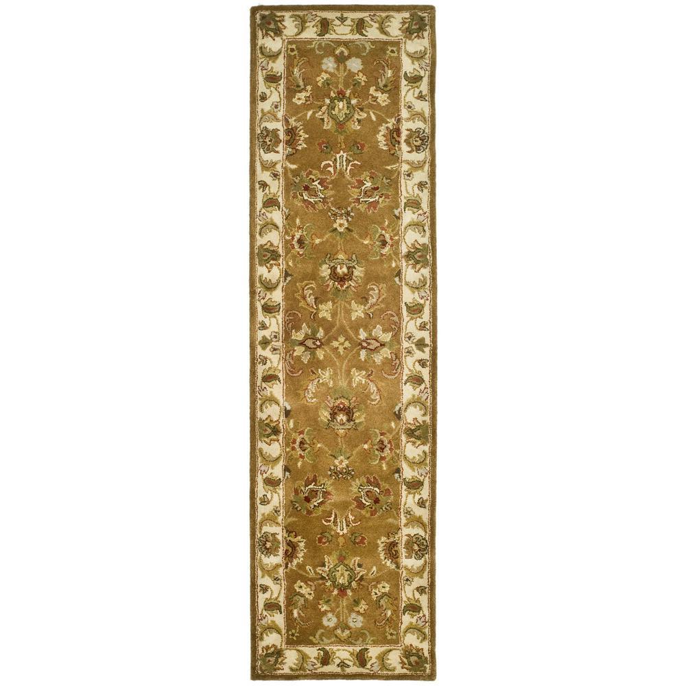 Heritage Mocha/Ivory 2 ft. x 10 ft. Runner Rug