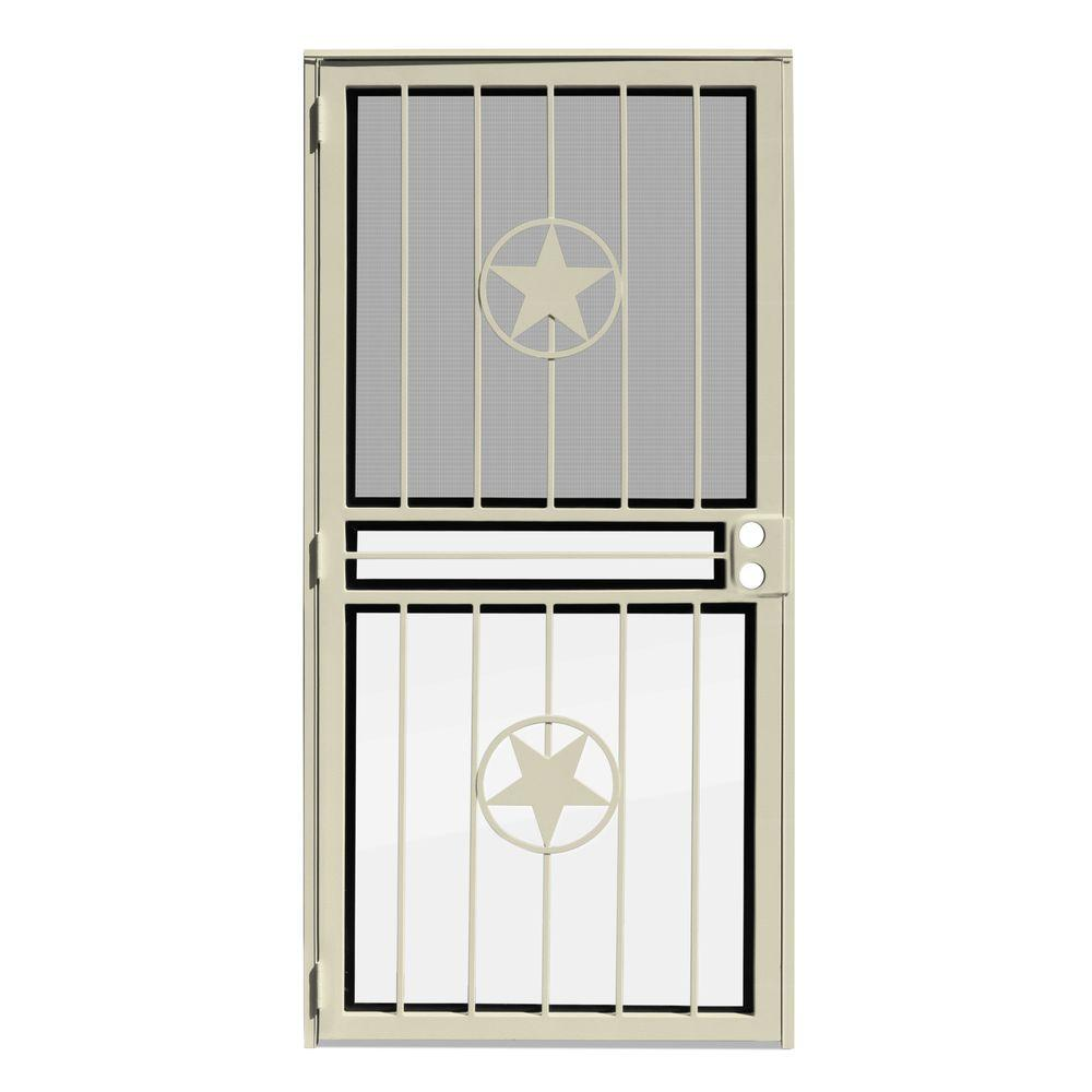 unique home designs 36 in x 80 in lone star almond recessed mount all season security door. Black Bedroom Furniture Sets. Home Design Ideas