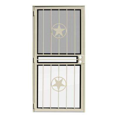 Unique Home Designs - Single Door - Almond - Security Doors