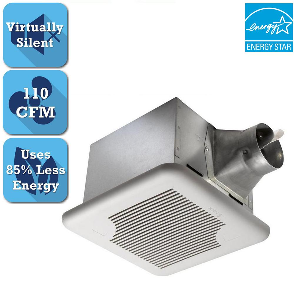 Delta Breez Signature Series 110 CFM Ceiling Bathroom Exhaust Fan, ENERGY STAR*