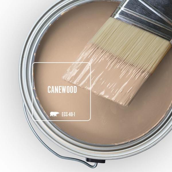 Reviews For Behr Ultra 5 Gal Ecc 40 1 Canewood Extra Durable Satin Enamel Interior Paint Primer 775405 The Home Depot