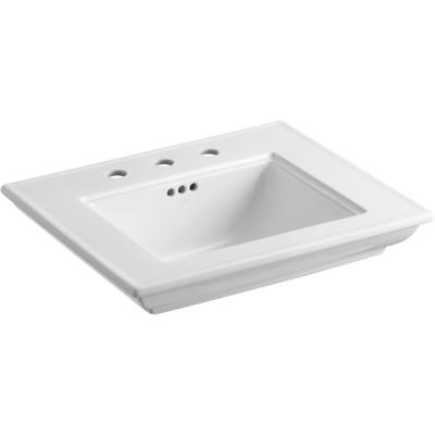 Memoirs Stately 24.5 in. Widespread Console Table Sink Basin in White